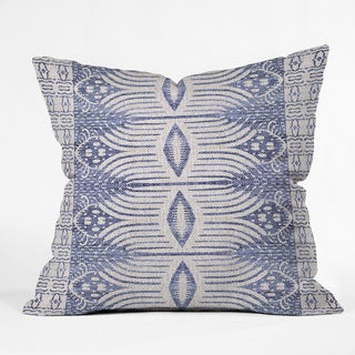 Holli Zollinger French Linen Tribal Ikat Throw Pillow