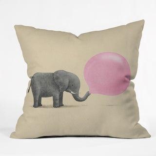 Terry Fan Jumbo Bubble Gum Throw Pillow