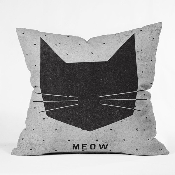 Wesley Bird Meow Throw Pillow. Opens flyout.