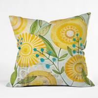 Cori Dantini Sun Burst Flowers Throw Pillow