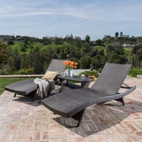 inspiring outdoor chaise lounge | Shop Toscana Outdoor 2-piece Wicker Adjustable Chaise ...