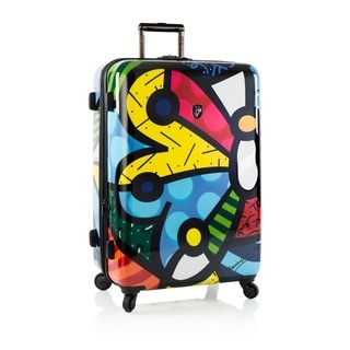 Heys Britto Butterfly Multicolor Polycarbonate 30-inch Hardside Spinner Upright Suitcase