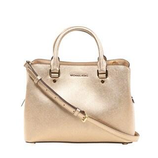Michael Kors Savannah Medium Pale Gold Satchel Handbag
