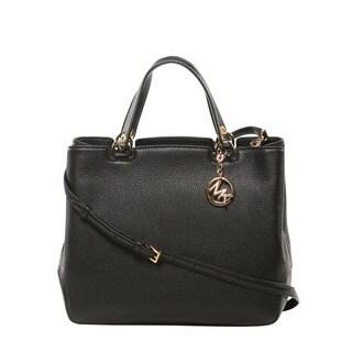 Michael Kors Anabelle Large Black Top Zip Tote Bag