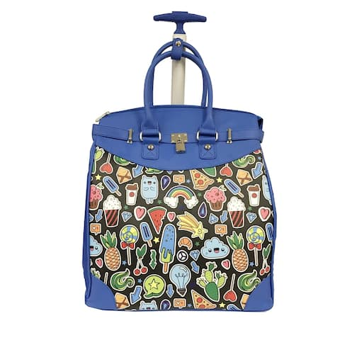 Rollies Pop Art Rolling 14-inch Laptop Travel Tote