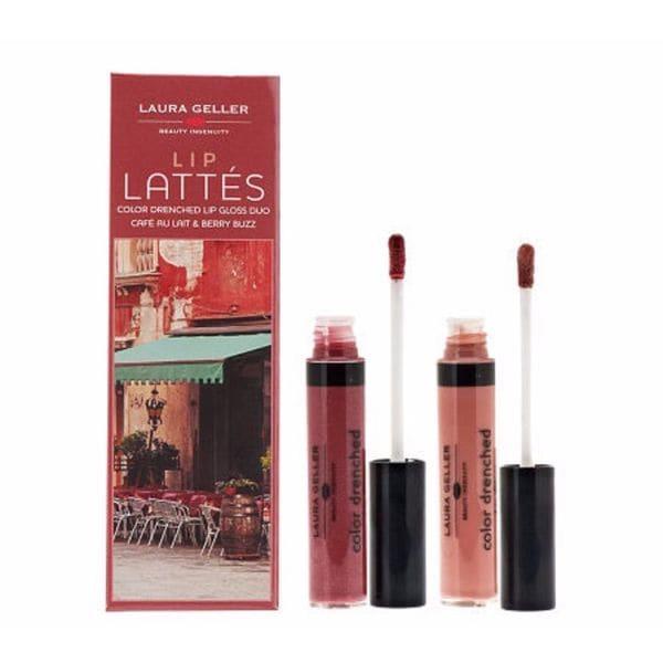 Laura Geller Lip Lattes Duo Cafe Au Lait And Berry Buzz