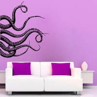 Octopus Tentacles Stickers Bathroom Wall Decor Sea Animals Home Vinyl Sticker Nursery Room Sticker Decal size 48x48 Color Black