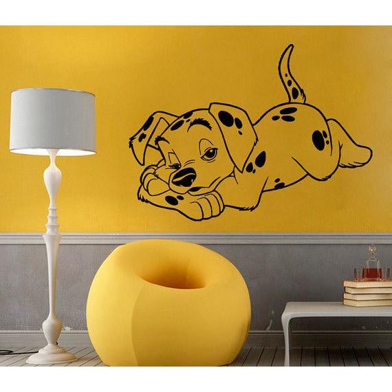 Dalmatian Vinyl Sticker Puppy Decal Pet Shop Baby Pets Wall Home ...