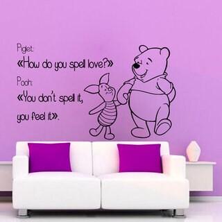Winnie The Pooh Wall Quotes Children Wall Decor Home Art Girl Boy Nursery Room Decor Sticker Decal s