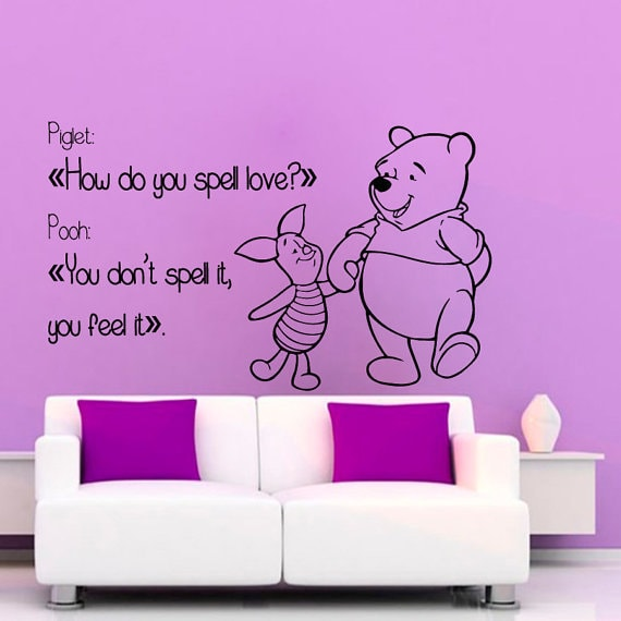 Shop Winnie The Pooh Wall Quotes Children Wall Decor Home Art Girl ...