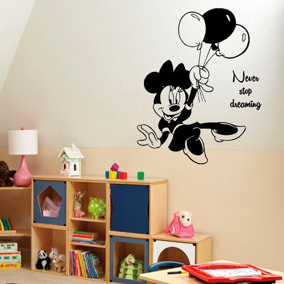 Shop Mouse Never Stop Dreaming Quotes Baby Kids Wall Decor Art Girl
