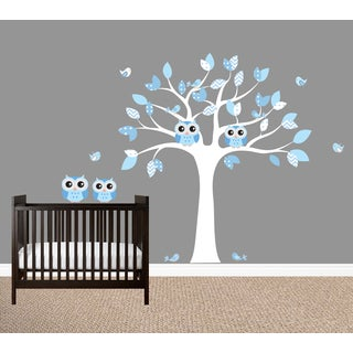 Owl Wall Decal Set - Pink or Blue