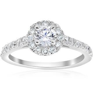 14k White Gold 3/4 ct TDW Halo Diamond Split Engagement Ring|https://ak1.ostkcdn.com/images/products/14615593/P21158084.jpg?impolicy=medium