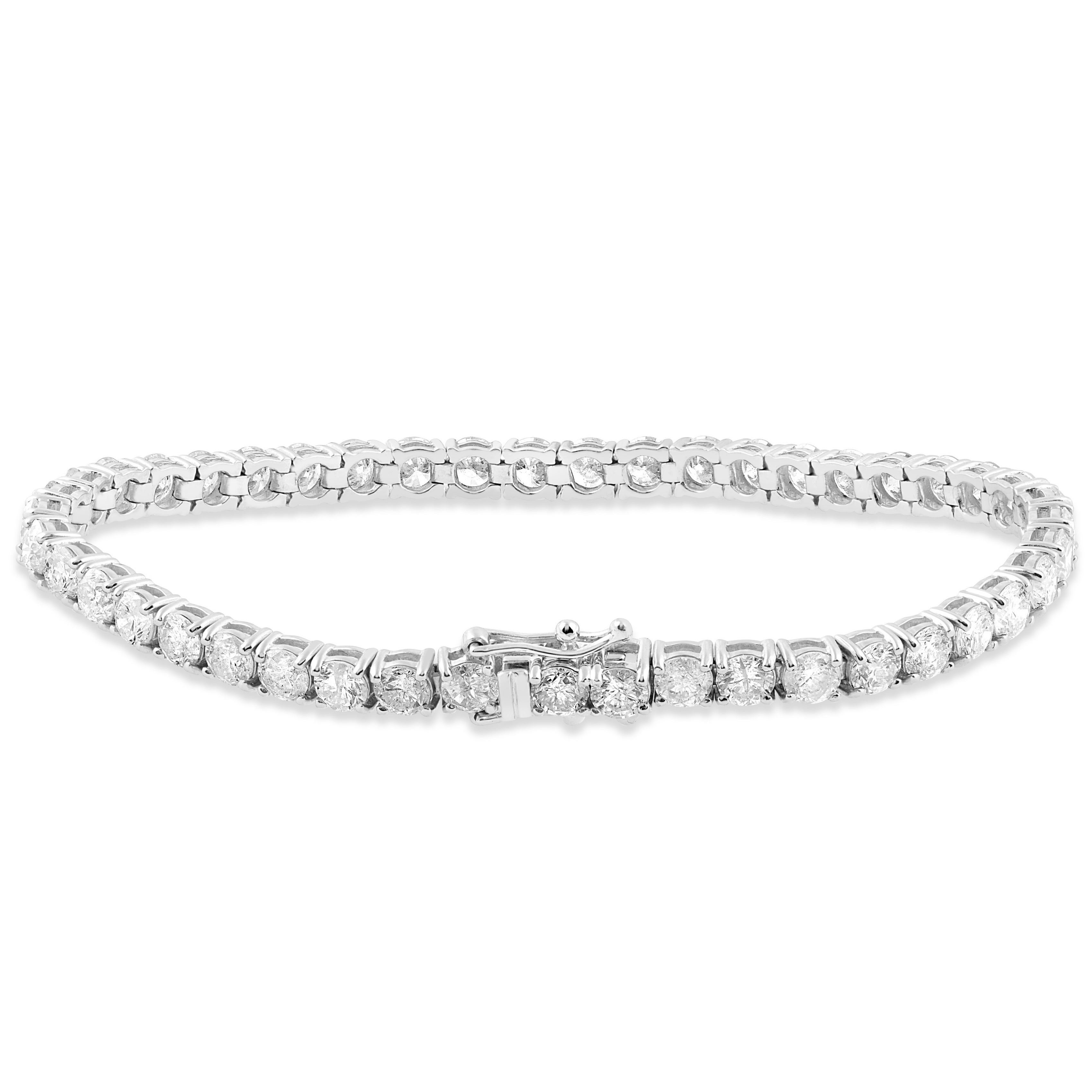 18k White Gold 9 1 2 Ct Tdw Diamond Tennis Bracelet