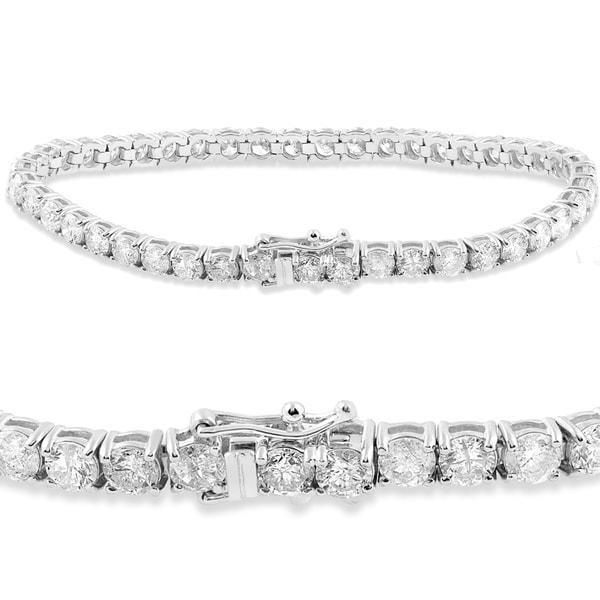 18k White Gold 9 1 2 Ct Tdw Diamond Tennis Bracelet