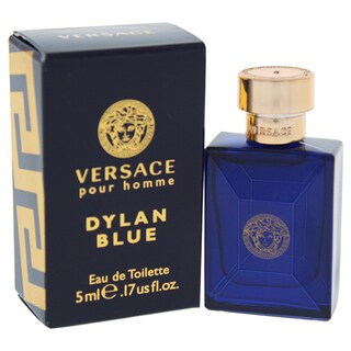 Versace Dylan Blue Men's 0.17-ounce Eau de Toilette Spray Mini