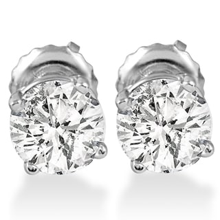 Link to 14k White Gold 1 ct TDW Diamond Screw Back Studs Similar Items in Earrings