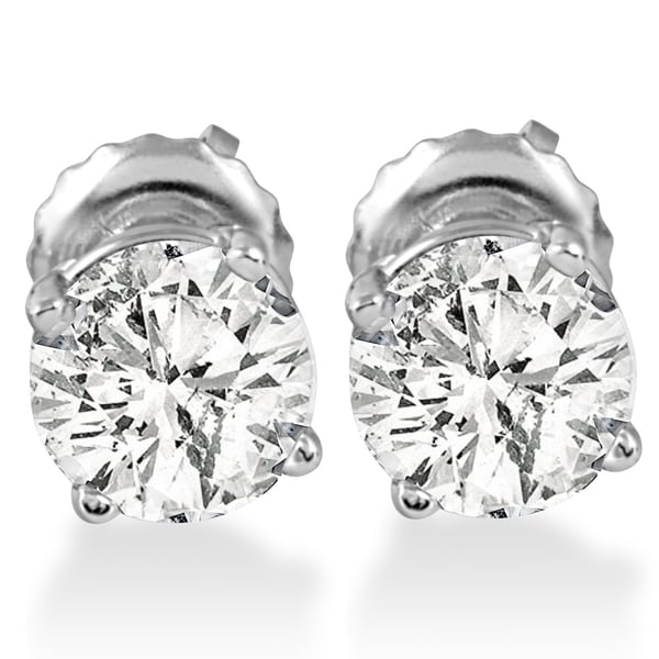 14k White Gold 1 ct TDW Diamond Screw Back Studs. Opens flyout.