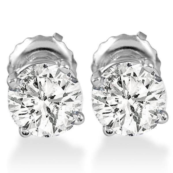 d83db6605 Shop 14k White Gold 1 ct TDW Diamond Screw Back Studs - On Sale ...