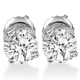 14k White Gold 1ct Tdw Diamond Back Studs