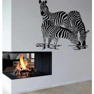 Zebra Drinking Water Vinyl Sticker Interior Design Wall Decor Home Decor Art Mural Sticker Decal siz