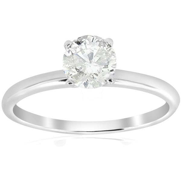 14k White Gold 5/8 ct TDW Diamond Solitaire Engagement Ring