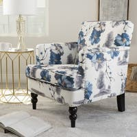 Boaz Floral Fabric Club Chair by Christopher Knight Home