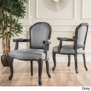 Paxton Fabric Dining Arm Chair (Set of 2) by Christopher Knight Home (Grey / Black - Fabric - N/A - Dining Chairs/Accent Chairs -