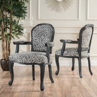 Paxton Fabric Pattern Arm Chair (Set of 2) by Christopher Knight Home