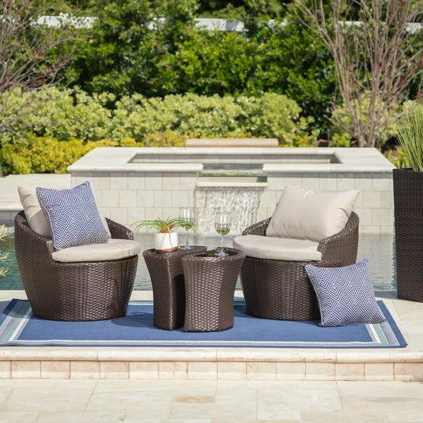 Remarkable Shop Costa Rica Outdoor 4 Piece Wicker Bistro Chat Set With Home Interior And Landscaping Staixmapetitesourisinfo