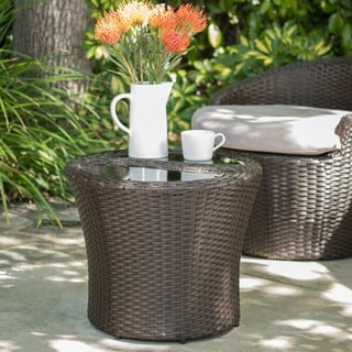 Costa Rica Outdoor Wicker Separable End Table by Christopher Knight Home
