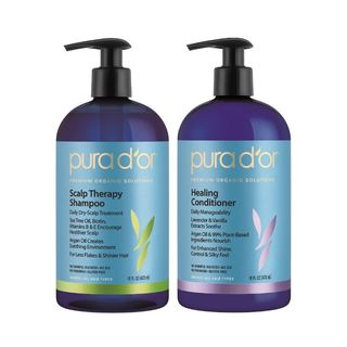 Pura d'or Scalp & Dandruff Therapy 16-ounce Shampoo & Healing Conditioner