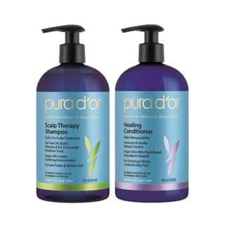 Pura d'or Scalp & Dandruff Therapy 16-ounce Shampoo & Healing Conditioner|https://ak1.ostkcdn.com/images/products/14624058/P21165452.jpg?impolicy=medium