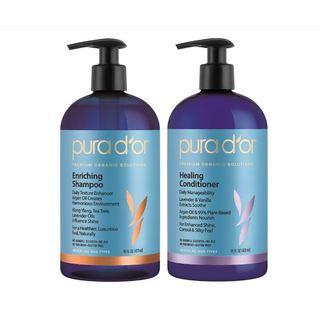 Pura d'or Enriching Shine 16-ounce Shampoo & Healing Conditioner