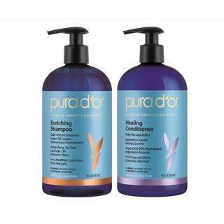 Pura d'or Enriching Shine 16-ounce Shampoo & Healing Conditioner|https://ak1.ostkcdn.com/images/products/14624059/P21165453.jpg?impolicy=medium
