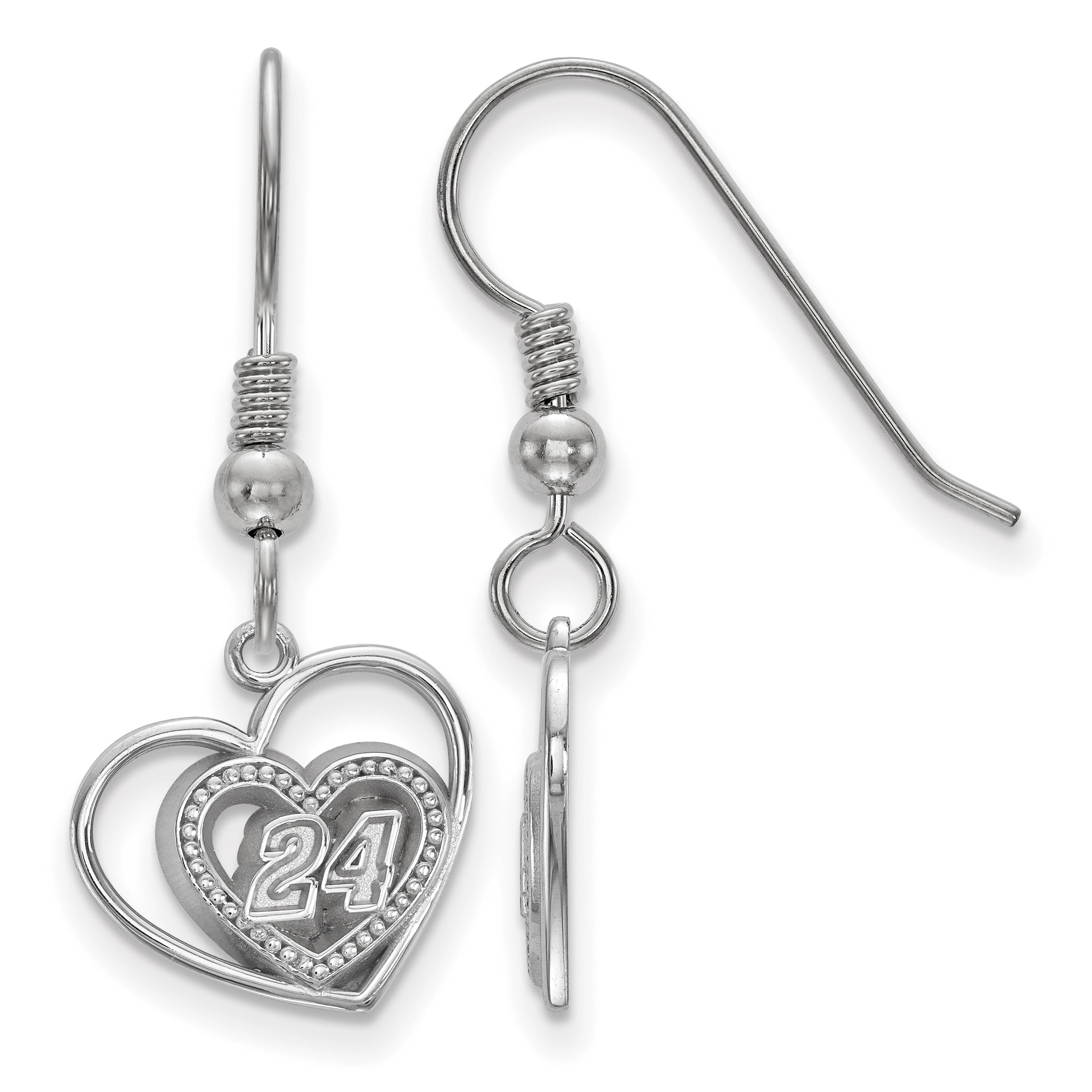 LogoArt Sterling Silver Pierced Heart Pattern Number 24 E...