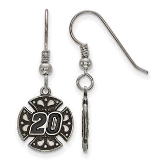 LogoArt White Sterling Silver Bali Maltese Cross 20 Earrings