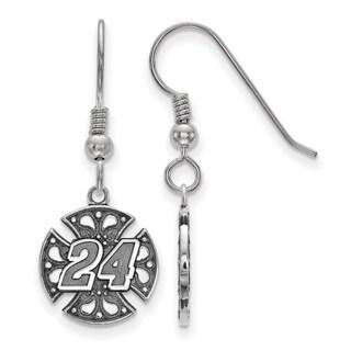 LogoArt Bali Maltese Cross 24 Sterling Silver Earrings