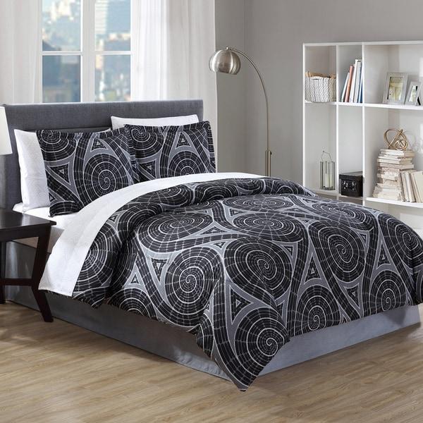 Hamilton Hall Nautilus Swirl Bed-in-a-Bag Comforter Set