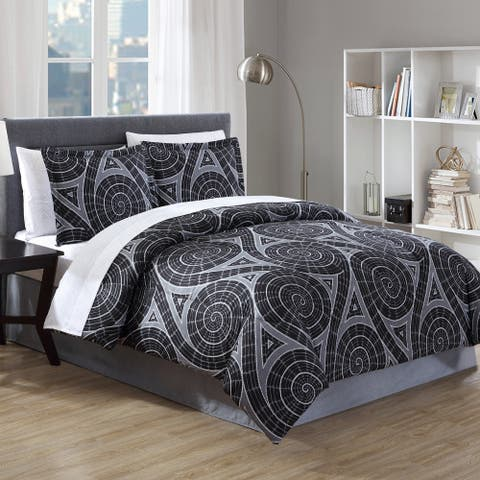 Hamilton Hall Nautilus Swirl Bed-in-a-Bag Comforter Set
