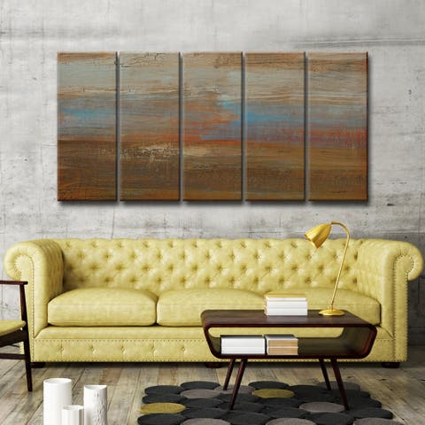 Canyon Ranch Sunset' by Norman Wyatt, Jr. 5 Piece Wrapped Canvas Wall Art Set