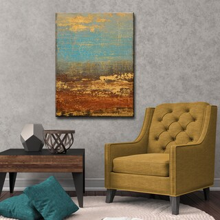 Ready2HangArt Abstract Canvas Art 'Golden Stream' by Norman Wyatt, Jr.