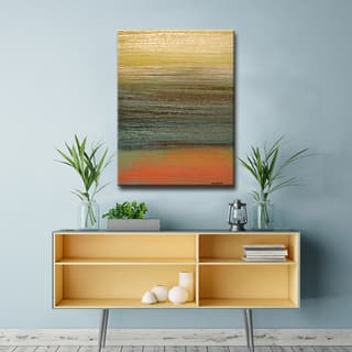 Destiny III' Abstract Wrapped Canvas Wall Art