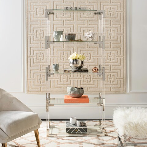 Safavieh Couture High Line Collection Hayley Acrylic Silver Bookshelf