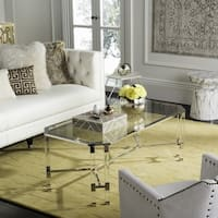Safavieh Couture High Line Collection Chandon Acrylic Silver Coffee Table