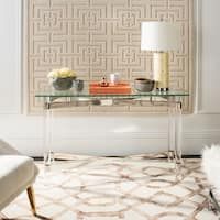 Safavieh Couture High Line Collection Lainey Acrylic Silver Console Table