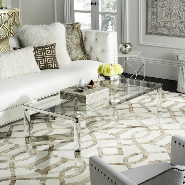 Superbe Safavieh Couture High Line Collection Suzanna Acrylic Silver Coffee Table