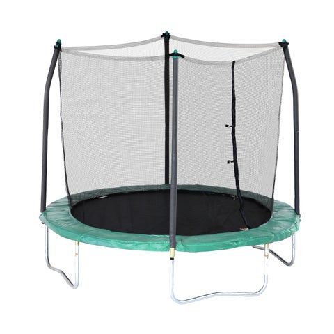 Skywalker Trampolines 8' Round Trampoline with Enclosure - Green