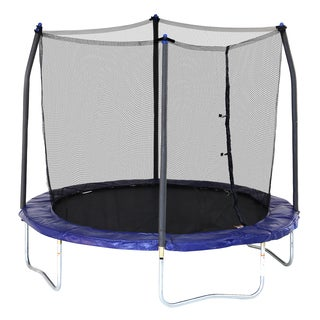 Skywalker Trampolines Blue 8-foot Round Trampoline with Enclosure