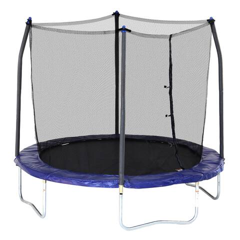 Skywalker Trampolines Blue 8-foot Round Trampoline with Enclosure